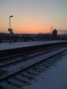 Sunrise on platform near my house
